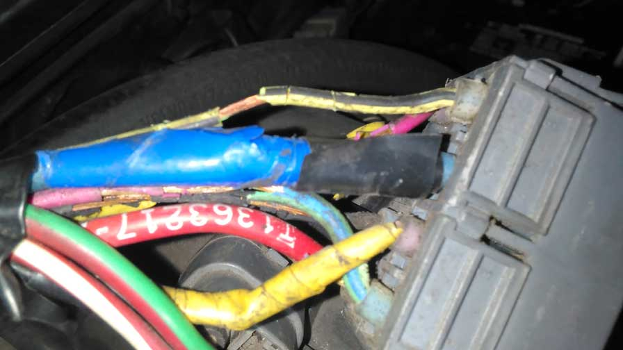 Volvo 1987 740 TURBO 4cyl engine wire harness PN 3523094.