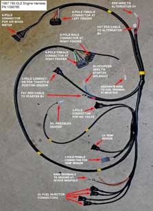 Volvo 1988 740 4cyl engine                           wire harness PN 1398765.