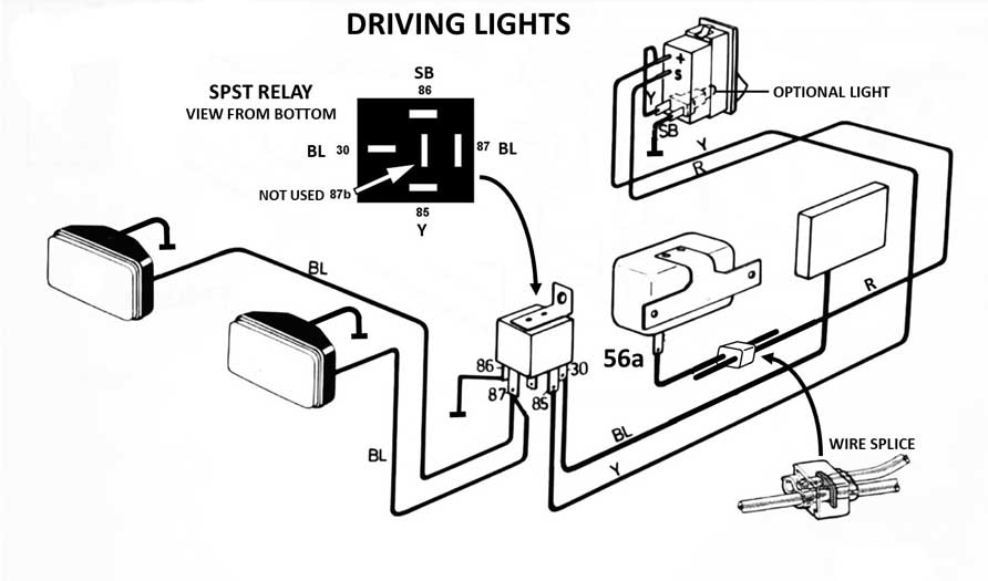 Classic Car Headlight Wiring Diagram