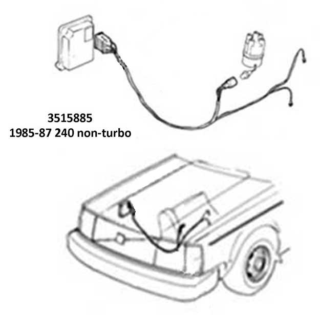 volvo 1985-88 240 ignition wire harness