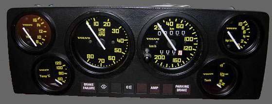 Volvo 240 Rallye (R Sport) gauge faces. Dave's Volvo Page.
