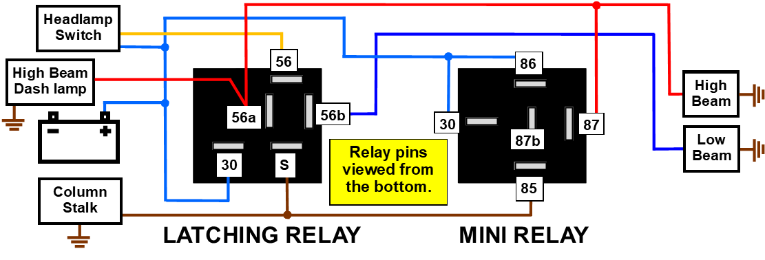Here Is A Diagram Showing How To Wire Up A Relay For A Typical