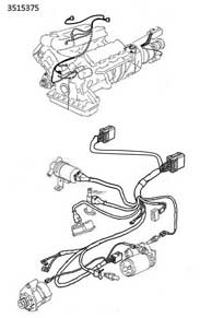Volvo 1981                                     260 engine wire harness PN 3515375.