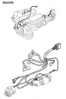 Volvo 1981-82 260 engine wire harness PN 3515376.
