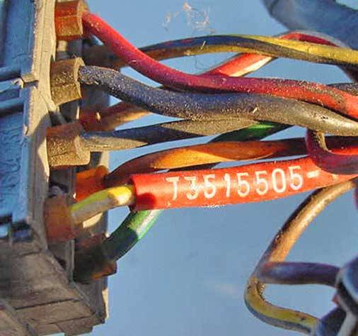Volvo 1985 740 4cyl                                   engine wire harness PN 3515505.
