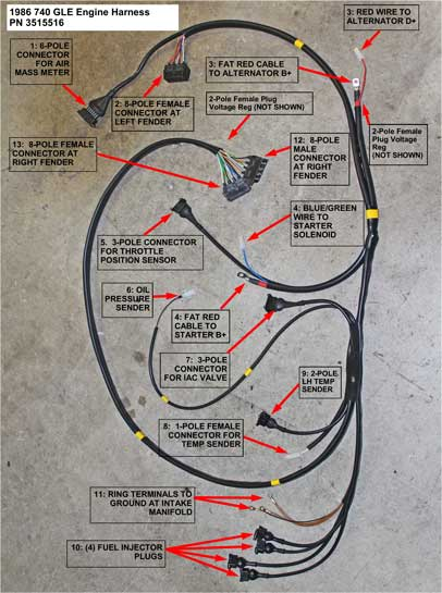 Dave's Volvo Engine Wire Harness Page on