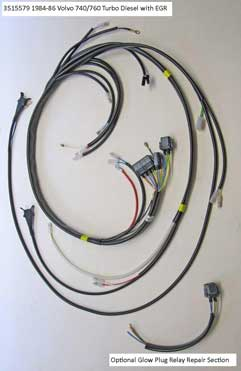 Volvo 1984-86                                       740/760 Diesel engine wire harness                                       (EGR) PN 3515579.