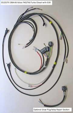 Volvo 1984-86 740/760 Diesel engine wire harness                                      (EGR) PN 3515579.
