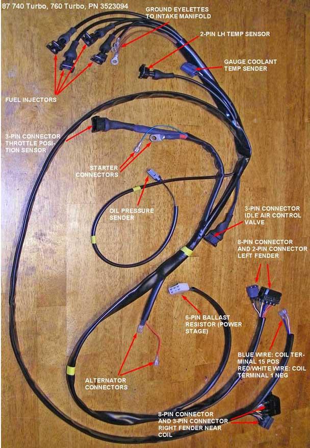 Dave U0026 39 S Volvo Engine Wire Harness Page