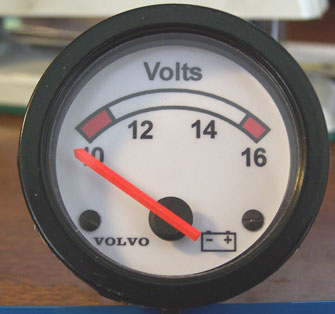 Volvo 240 52 mm gauge faces. Dave's Volvo Page.
