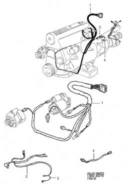 Volvo 1980-85 240 diesel                         engine harness PN 9139238.