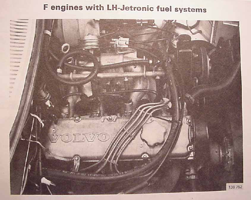 Volvo 240 with LH-Jetronic Electronic Fuel Injection.