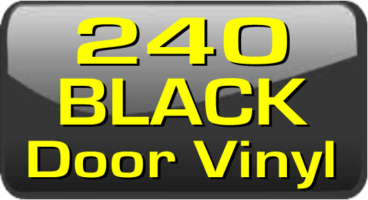 240 Black                   Door Vinyl Stripes.