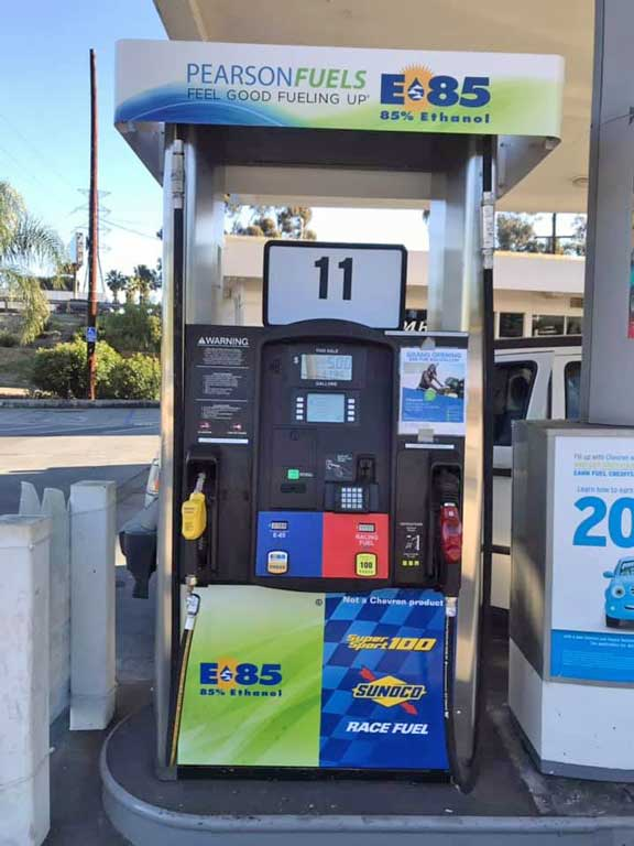 Unleaded Race/Racing Fuel at the Pump in California