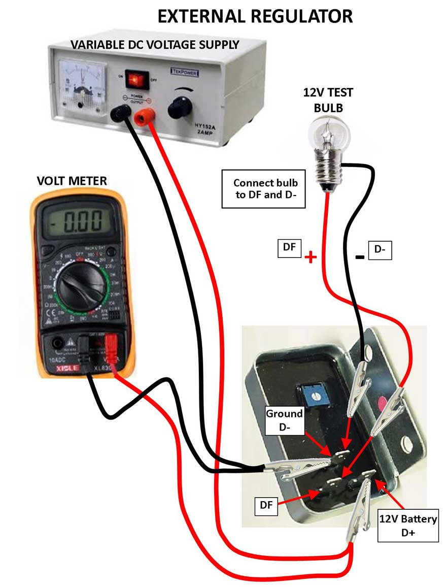 Daves Volvo Page Adjustable Voltage Regulators Regulator Circuit Can Output Electronic Here Are Some Simplified Diagrams That Will Explain How A May Be Hooked Up For Testing You Should Follow The Above Video And These Hook